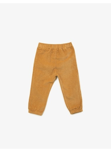 Koton Beli Baglamali Pantolon Sarı